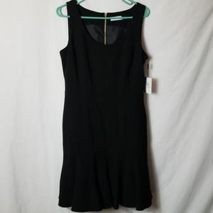 Calvin Klein Sheath- Peplum Dress Black Sz 10